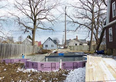Racine housing dept foundation work